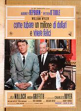 COME RUBARE UN MILIONE DI DOLLARI E VIVERE FELICI poster Hepburn O'Toole BO13