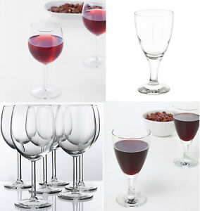 IKEA RED WINE GLASSES WHITE WINE GLASSES CRYSTAL DRINKING CHRISTMAS DINNER 30CL