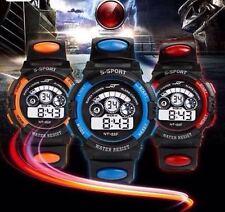 Waterproof Mens Boys Digital LED Quartz Alarm Sports Watch **UK SELLER**