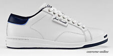 Men's CONVERSE All Star JACK PURCELL WHITE LEATHER Low Trainers Shoes UK SIZE 6
