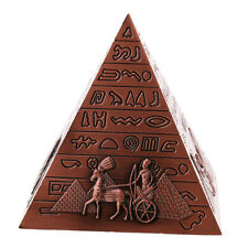 Vintage Metall Ägyten Pyramide Modell Haus Büro Deko