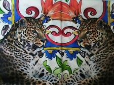 "Pair decorative pillows left and right Leopard  20""x20"" Designer Fabric"