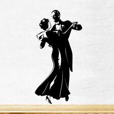 Pareja de baile Pared Adhesivo Vinilo Calcomanía Mural de Arte Decoración de Cocina de gráficos Amor