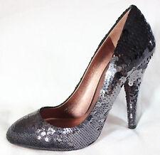 """New MIU MIU/PRADA $650 auth """"Ombre"""" Silver sequin glam pumps 5"""" heels ~ 39/8/8.5"""