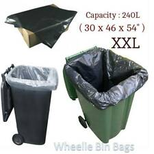 Heavy Duty Wheelie Bin Bags Liners Refuse Sacks UK Made Strong Large Clear Black