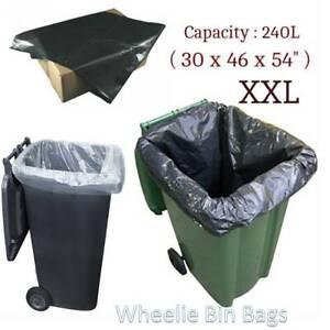 Heavy Duty Wheelie Bin Bags Liners Refuse Sacks UK Made Strong Large Clear Black