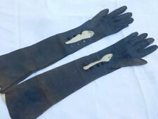 Gloves Antique Long Opera Sz 6 3/4 Victorian Soft Kid Button Cuff 19.75 inches
