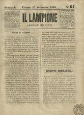 Il Lampione Carlo Collodi Giornale Satirico Risorgimento n°64  27 Settembre 1848