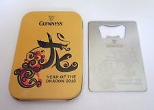 GUINNESS STOUT Metal  BOTTLE OPENER Year of Dragon 2012 MALAYSIA in Metal Box