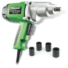 "Kawasaki 1/2"" 7.5 amp Metal Heavy Duty Electric Impact Wrench Kit Set - 841426"
