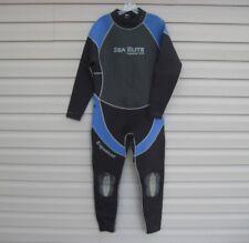 Sea Elite Equator Men's Full Wetsuit Size XXL Black Blue 3mm 3/2 Scuba Dive