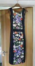 Ted Baker Akva Kensington Floral Bodycon Wiggle Dress Buckle Size 1 UK 8