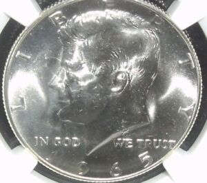 1965 SMS NGC MS 67 Kennedy Half Dollar