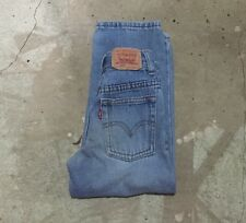 euc Levi'S 550 faded Denim blue jean Relaxed fit Pants boy's 6 slim (21x17 1/2)