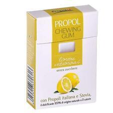 Propol Chewing Gum con Propoli italiana senza zucchero gusto Limone + Vitamina C