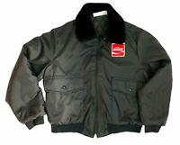Vintage Enjoy COCA-COLA Holloway COKE Advertising BLACK Bomber Jacket Patch XL