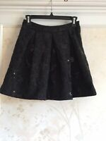 NWT Betsey Johnson Womens Black Sequin Skirt 4