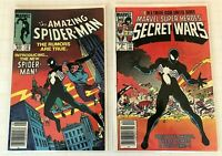 AMAZING SPIDER-MAN # 252 & SECRET WARS # 8 1st App Black Costume NEWSSTAND KEYS