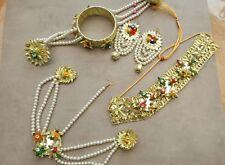 Indiano Pakistano fatto a mano GOTA gioielli per Mehndi Sposa (16)