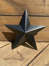 Rustic Black Tin Metal star 30cm
