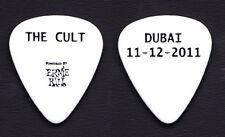 The Cult Dubai White Guitar Pick 2011 Tour