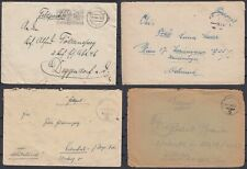 German Reich 1941 Wwii ☀ Feldpost covers ☀ 4v used - See scan