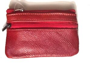 Coin wallet Women's Men Mini Small Real leather bag pouch Key purse zip