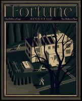 House construction building trades Fortune Magazine 1936 Art Deco color cover