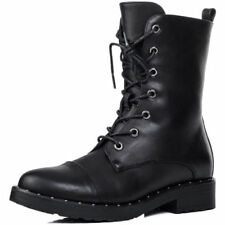 Unbranded Motorcycle Boots Low Heel (3/4 in. to 1 1/2 in.) Boots for Women