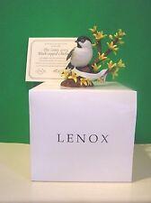 LENOX 2005 BLACK CAPPED CHICKADEE Bird sculpture NEW in BOX with COA
