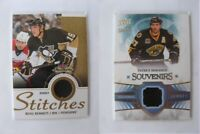 2013-14 Fleer Showcase S-BB Beau Bennett  black stitches jersey penguins