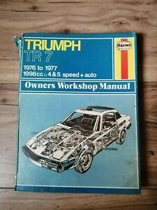 Haynes TR7 Manual 1976-77