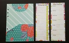 Filofax or Kikki A5 Planner Dividers-Folders & Set of note pages!