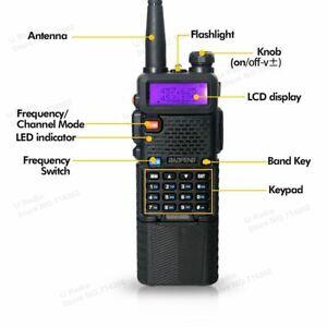 Baofeng UV-5R Dual Band UHF/VHF Radio Upgrade Version 3800mah Battery