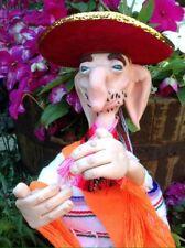 Unique polymer clay mexican doll, Mariachi, Mexique, handmade doll, Sombrero, sculpture