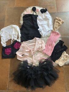 Capezio Girls Ballet Lot Leotards Tutu Hair Sweater Skirt  7/8 Leg Warmer 16 PC
