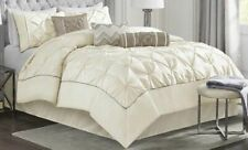 Madison Park Laurel 7 Piece Comforter Set Ivory Bed In A Bag Full NEW