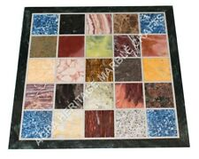 """18"""" Multi Mosaic Inlaid Marble Side Kitchen Table Top Inlay Furniture Decor E917"""