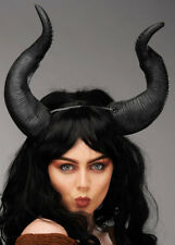 Large Black Maleficent Style Demon Horns