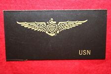 WW2 US U.S. NAVY USN PILOT WING LEATHER FLIGHT JACKET NAME PATCH BLANK