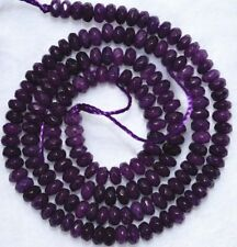 """Pretty 5x8mm Purple amethyst faceted abacus Gem loose beads 15"""" PL313"""