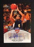 Jorge Gutierrez Signed 2012 Leaf Auto Autograph Card #BA-JG1