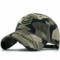 Mens Baseball Cap Camouflage Jungle Hat Tactical Hiking Fishing Outdoor Hunting