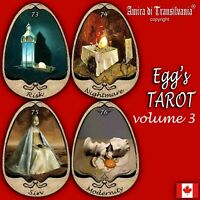 egg eggs art tarot card cards deck tell fortune telling rare vintage oracle lot