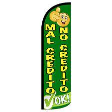 Mal Credito/No Credito Ok Extra Wide Windless Swooper Flag