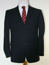 Hart Schaffner & Marx Mens Suit 40 Double Breasted Black Vintage Fashion Costume
