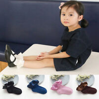 Kids Baby Girls Ankle Princess Solid Cotton Silk Satins Frilly Ruffle Bow Socks
