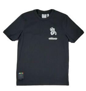 Mens small Disney Adidas T Shirt Goofy Black Short Sleeve