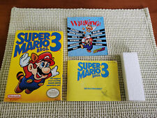 Super Marios Bros 3 - Nintendo - Authentic - Box and Manual Only - Oval Seal!