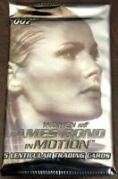 """5 Lenticular Trading Cards - 2003 issue of """"Women of James Bond in Motion"""""""
